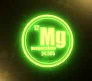 Magnesium chemisch element royalty-vrije illustratie