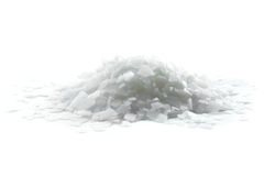 Magnesium chloride. Isolated on white Royalty Free Stock Photos