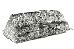 Magnesium. 99.95% fine magnesium isolated on white background Stock Image