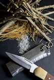 Magnesium Fire Starter Stock Photo