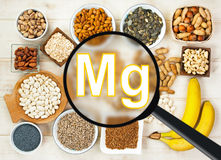Magnesium in food Stock Images