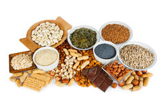 Magnesium in food Royalty Free Stock Image