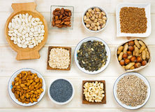 Magnesium im Lebensmittel Lizenzfreie Stockfotos