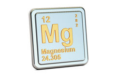 Magnesium, Mg chemical element sign. 3D rendering Royalty Free Stock Photography
