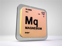 Magnesium - mq - chemical element periodic table Stock Image