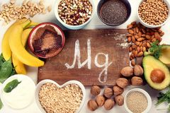 Magnesium rich foods royalty free stock photography