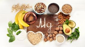 Magnesium rich foods royalty free stock image
