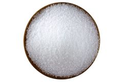 Magnesium sulfate (Epsom salts). Closeup photo of fine Magnesium sulfate (Epsom salts Stock Image