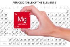 Magnesiumsymbol royaltyfri illustrationer