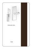 Magnesowa hotelowa kluczowa karta Zdjęcia Stock