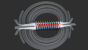 Magnesowe linie siła ilustracja wektor