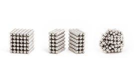 Magnesowe metal piłki od idealnego kształta chaos, Zdjęcia Stock