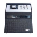Magnetófono y radio viejos Foto de archivo