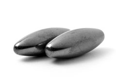 Magnet. Two magnet ovals on white Stock Photo