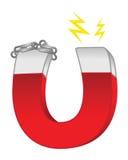 Magnet. Cartoon illustration of a magnet Stock Photo