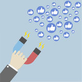 Magnet attracting likes Royalty Free Stock Image