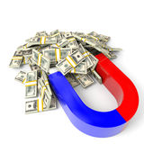 Magnet attracts money. Stock Image