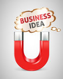 Magnet - Business idea Royalty Free Stock Photo
