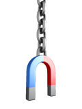 Magnet chain links on a white background Stock Photography
