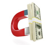 Magnet dollar Royalty Free Stock Images