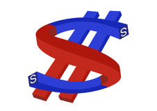 Magnet - the dollar Stock Images
