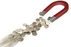 Magnet för pengar i flyttning Arkivbild