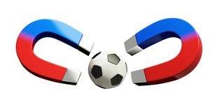 Magnet football Stock Photo