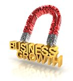 Magnet formed by business words attracting Stock Photo