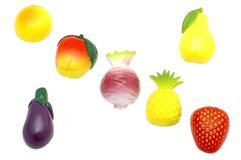 Magnet fruit and vegetables royalty free stock photo