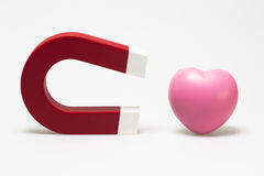 Magnet and heart Royalty Free Stock Image