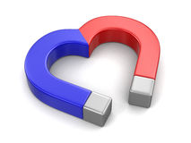 Magnet heart (clipping path included) Stock Images