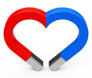 The magnet heart Stock Photos