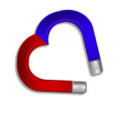 Magnet heart Stock Images