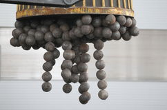 Magnet holds grinding balls Royalty Free Stock Photography