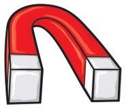 Magnet. Horseshoe magnet, red magnet, iron magnet stock illustration