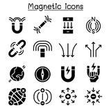 Magnet icon set Stock Photos