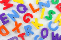 Magnet letters Stock Images
