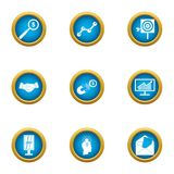 Magnet for money icons set, flat style. Magnet for money icons set. Flat set of 9 magnet for money vector icons for web isolated on white background Royalty Free Stock Photography