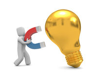 Magnet for new ideas Stock Photography
