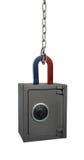 Magnet och kassaskåp Fotografering för Bildbyråer
