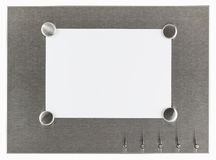Magnet pinboard with blank paper Royalty Free Stock Photo