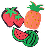 Magnet pineapple, strawberry, watermelon Stock Photography