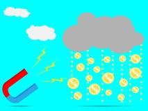 Magnet rain money Stock Photo