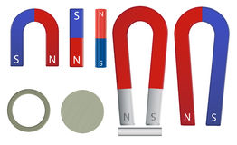 Magnet set Stock Illustration