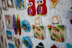 Magnet. Souvenir shop in Marbella city. Marbella city, Costa del Sol, Andalusia, Spain. Photo taken – 26 july 2017 Stock Image