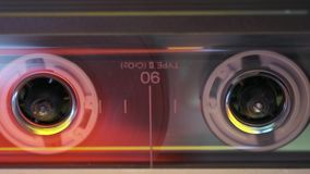 Magnet tape cassette stock footage