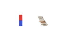 Magnet und Geld Lizenzfreies Stockbild