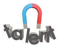 Magnet, zum des Talents auf Weiß anzuziehen Stockfotografie