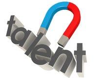 Magnet, zum des Talents auf Weiß anzuziehen Lizenzfreie Stockfotos