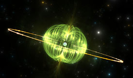 Magnetar or neutron star with extremely powerful magnetic field Royalty Free Stock Photo